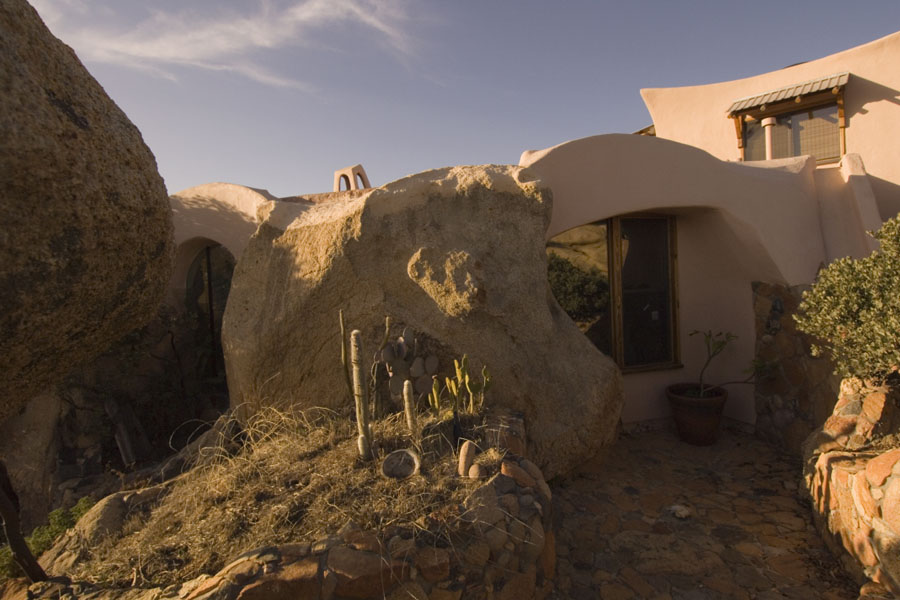 Building built into the boulders. Photo by Ryan Pennell.