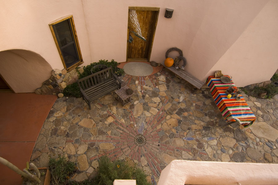 Stone mosaic patio. Photo by Ryan Pennell.