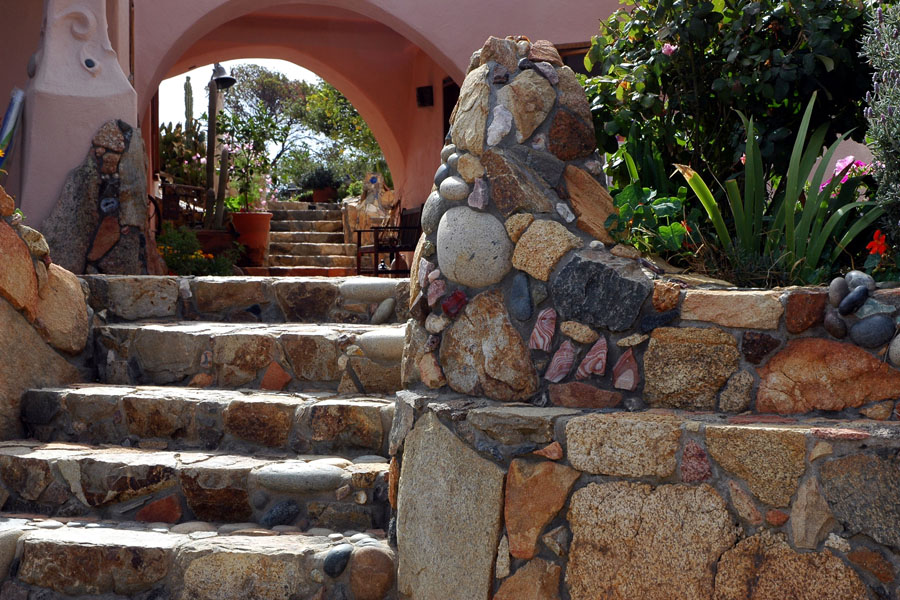 Beaton Residence Rock Entry Stairs