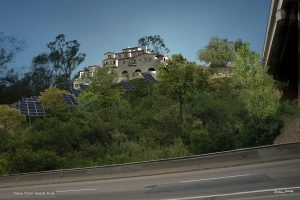 Casa Verde Condominiums on the hillside. Rendering by Deka Kano.