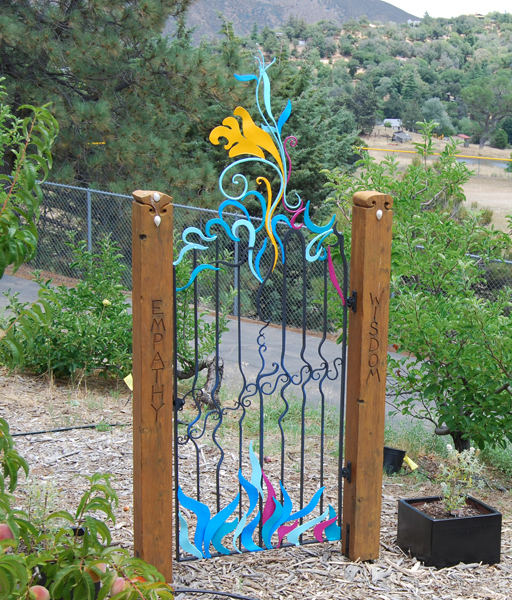 Julian Elementary. Gate by James Hubbell.