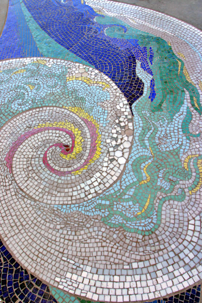 Pacific Portal. Wave mosaic. Photo by John Dick.