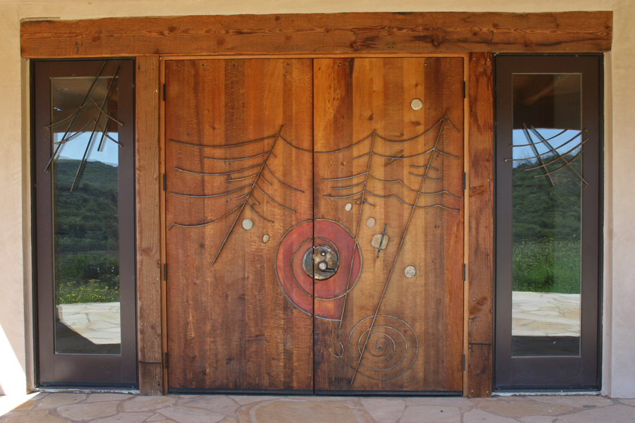 San Pasqual Cultural Center. Doors by James Hubbell.