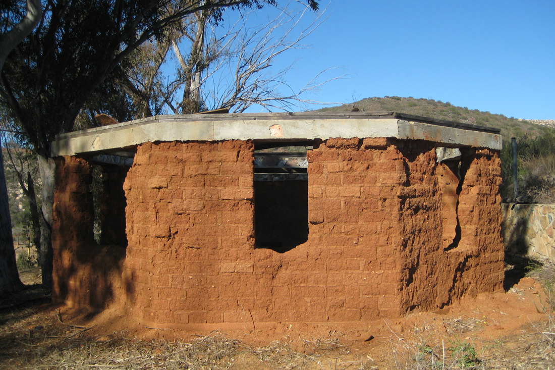 Old adobe sweat lodge.