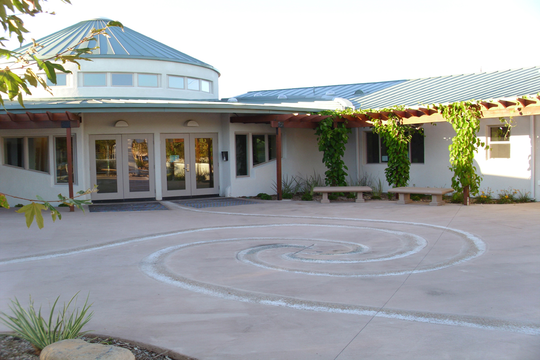 Friends Center Courtyard Spiral. Photo by Alex Miller.