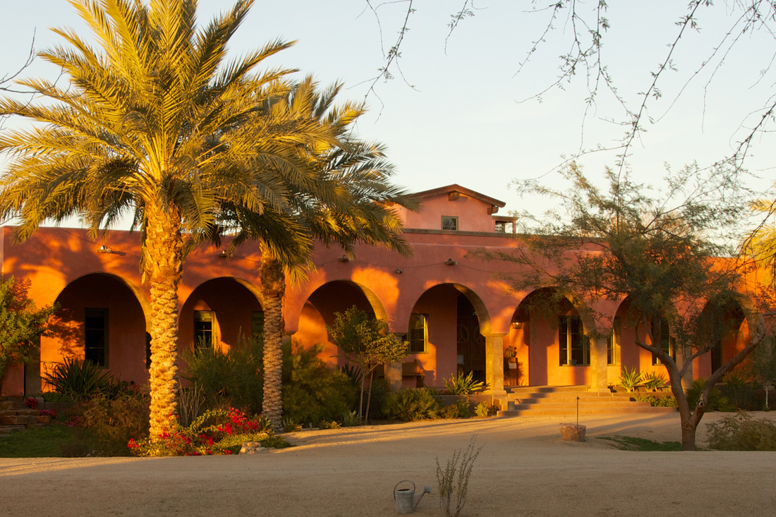 Exterior of the hacienda. Photo by David Deckey.