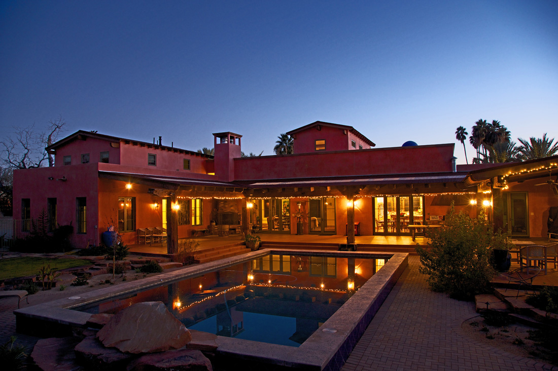 Courtyard and pool. Photo by David Deckey.