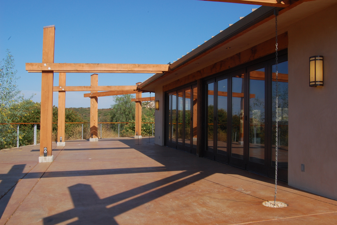 South facing glazing at San Pasqual Cultural Center