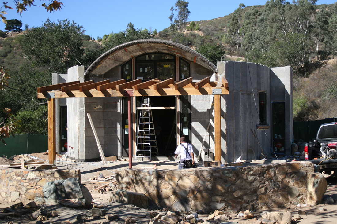 Elfin Forest Interpretive Center before stucco is applied.