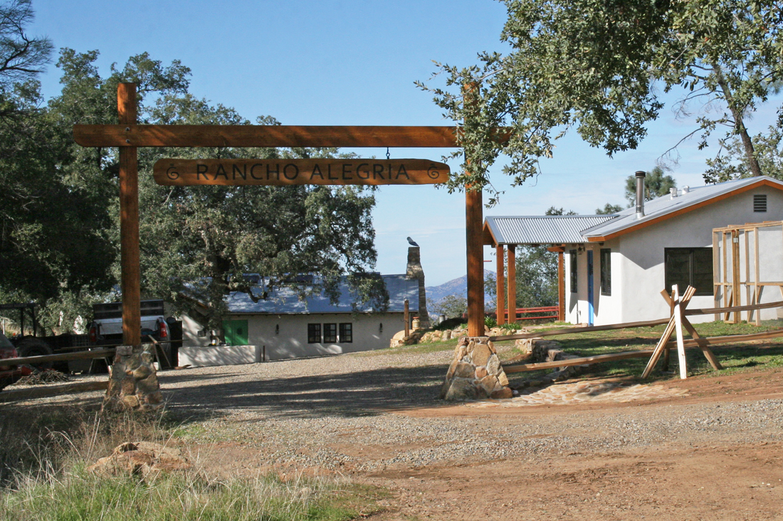 Rancho Alegria entrance. Photo by Drew Hubbell.