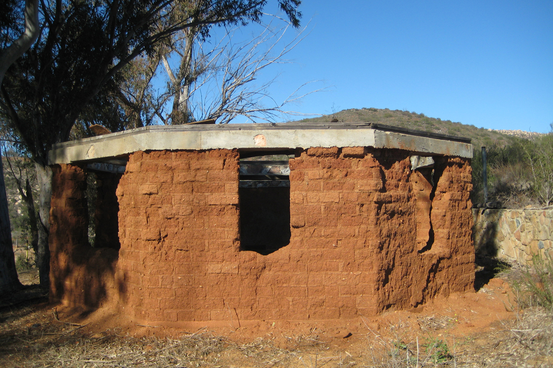 Historic adobe sweat lodge on the property.