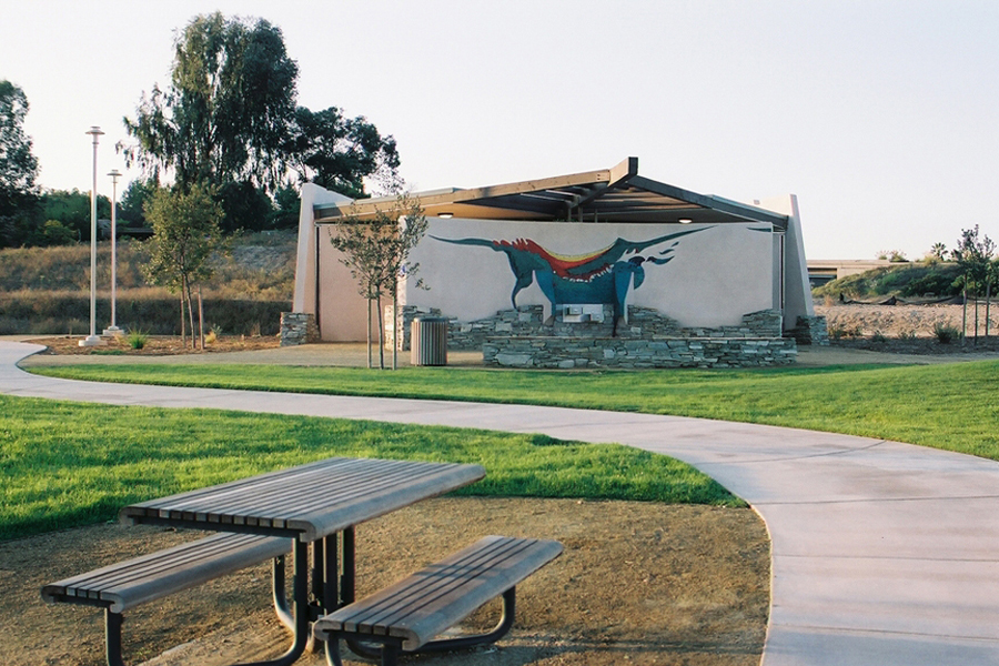 Briercrest Park Comfort Station. Photo by GlenSchmidt. tile design-organic architecture-hubbell and hubbell-san diego,california