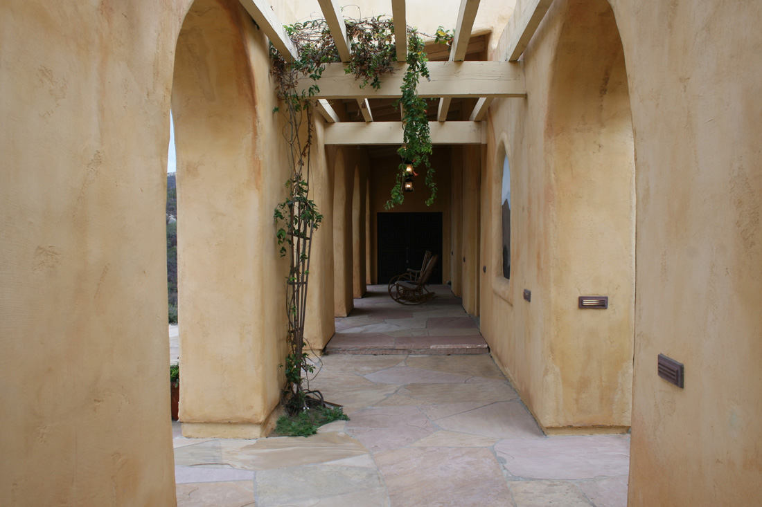 Photo of breezeway arches.