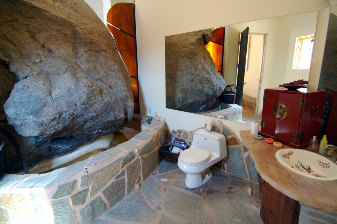 Bathroom on side of boulder. Photo by Ryan Pennell.