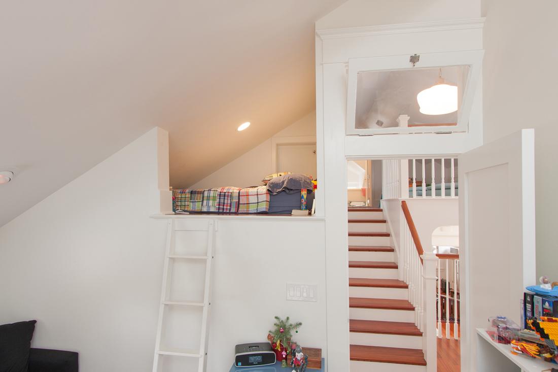 Bedroom loft. Photo by Robert Bruni.