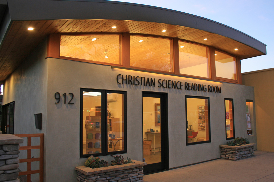 Front of Christian Science Reading Room.