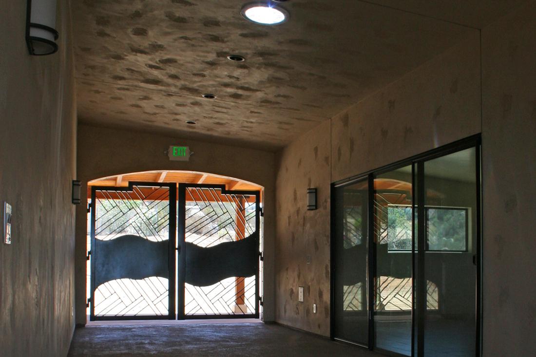 Hallway between Spiritual House and dining area.